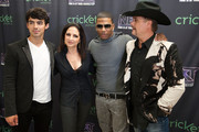 (L-R) Joe Jonas, Gloria Estefan, Nelly and John Rich pose for a portrait before a live taping of CW's 'The Next' on August 7, 2012 in Dallas, Texas.