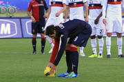 Joaquin Larrivey of Cagliari in action during the Serie A match between Cagliari Calcio and Genoa CFC at Stadio Sant'Elia on January 8, 2012 in Cagliari, Italy.