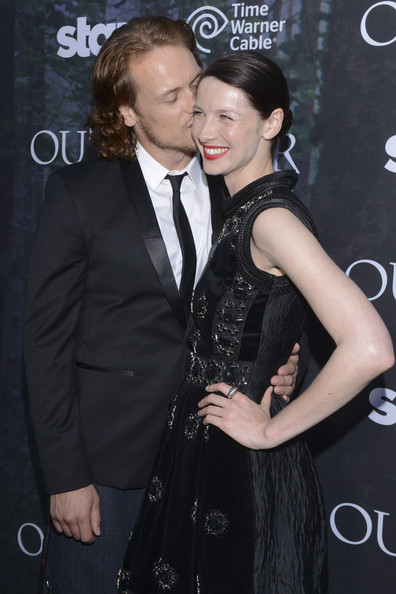 Sam Heughan with beautiful, sexy, Girlfriend