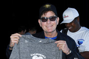 Charlie Sheen attends California Strong Celebrity Softball Game at Pepperdine University Baseball Field on January 12, 2020 in Malibu, California.