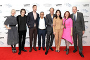 """(L-R) Guest, Armie Hammer, Timothee Chalamet, Sadiq Khan, Luca Guadagnino, Esther Garrel, Clare Stewart, Emilie George and guest attend the Mayor Of London Gala & UK Premiere of """"Call Me By Your Name"""" during the 61st BFI London Film Festival on October 9, 2017 in London, England."""