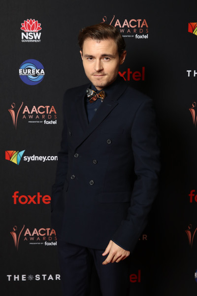 2019 AACTA Awards Presented By Foxtel | Industry Luncheon - Red Carpet Arrivals [suit,formal wear,tuxedo,fashion,premiere,carpet,flooring,callan mcauliffe,aacta awards,industry luncheon,australia,sydney,foxtel,foxtel | industry luncheon,the star]
