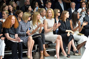 (L-R) Grace Coddington, Anna Wintour, Virginia Smith, Nicole Kidman, Rooney Mara and Naomie Harris attend the Calvin Klein Collection fashion show during Mercedes-Benz Fashion Week Spring 2014 at Spring Studios on September 12, 2013 in New York City.
