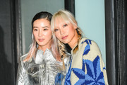 Irene Kim (L) and model Soo Joo Park attend the Calvin Klein Collection outside arrivals during New York Fashion Week on September 11, 2018 in New York City.