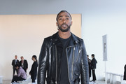 Tyrod Taylor attends the Calvin Luo front row during New York Fashion Week: The Shows at Gallery I at Spring Studios on February 13, 2019 in New York City.