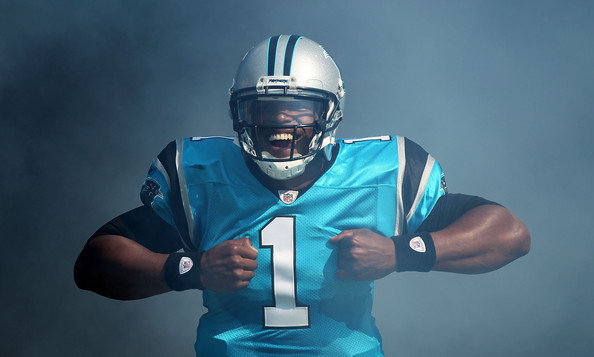Cam Newton emerges. Photo by Scott Halleran/Getty Images