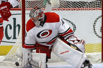 Cam Ward Carolina Hurricanes v Chicago Blackhawks