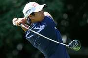 Yani Tseng of Chinese Taipei tees off on the 5th hole during the first round of the LPGA Cambia Portland Classic  at Columbia Edgewater Country Club on August 31, 2017 in Portland, Oregon.