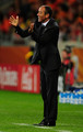 Paul Le Guen head coach of Cameroon directs his team during the 2010 FIFA World Cup South Africa Group E match between Cameroon and Netherlands at Green Point Stadium on June 24, 2010 in Cape Town, South Africa.