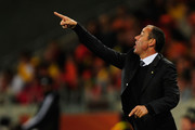Paul Le Guen head coach of Cameroon shouts orders to his team during the 2010 FIFA World Cup South Africa Group E match between Cameroon and Netherlands at Green Point Stadium on June 24, 2010 in Cape Town, South Africa.