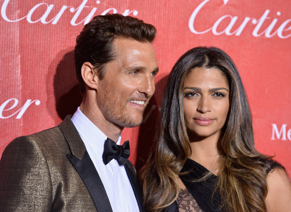 25th Annual Palm Springs  International Film Festival Awards Gala - Arrivals [hair,hairstyle,beauty,forehead,premiere,event,suit,long hair,formal wear,fashion accessory,arrivals,matthew mcconaughey,camila alves mcconaughey lee,palm springs convention center,california,palm springs international film festival awards gala]