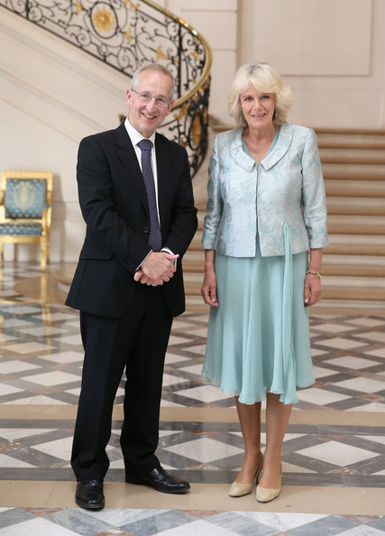 Camilla Parker Bowles Attends First Solo Overseas Engagement [event,suit,white-collar worker,formal wear,tourism,peter ricketts,camilla parker bowles attends first solo overseas engagement,support,paris france,embassy,british,camilla duchess of cornwall,emmaus,reception,visit]