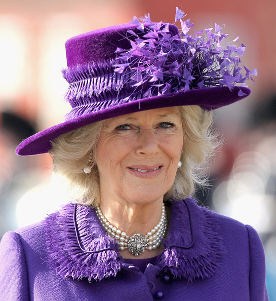 The Prince Of Wales And Duchess Of Cornwall Visit Denmark - Day Three [purple,hat,clothing,fashion accessory,costume hat,headgear,costume accessory,electric blue,smile,costume,charles,denmark,copenhagen,national memorial,scandinavia,duchess of cornwall,prince of wales,prince of wales,diamond jubilee,tour]