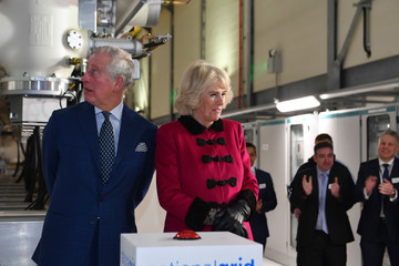 Camilla Parker Bowles The Prince of Wales and the Duchess Cornwall Open the London Power Tunnels Project