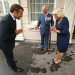 Camilla Parker Bowles The Prince Of Wales And The Duchess of Cornwall Receive President Macron To Commemorate The Appeal of The 18th June Speech By Charles De Gaulle