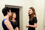 Director of 100WHF Amanda Pullinger (L) and Chairman 100WHF Mimi Drake (C) meet Catherine, Duchess of Cambridge (R) at a gala dinner in aid of Action on Addiction hosted by the 100 Women in Hedge Funds Philanthropic Initiatives on October 24, 2013 in London, England.