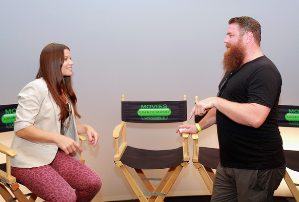 'The Houses October Built' Interviews at Comic-Con [movies,the houses october built,movies on demand,green,table,event,conversation,furniture,games,mikey roe,camille ford,san diego,the houses,california,interviews,comic-con]