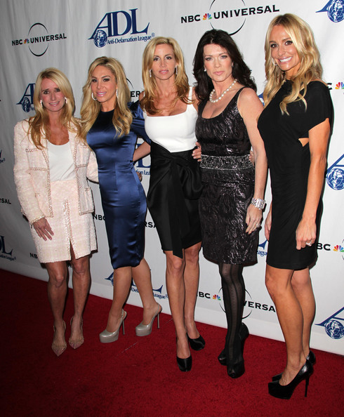 "Camille Grammer (L-R) ""The Real Housewives of Bevery Hills"" Kim Richards, Adrienne Maloof, Camille Grammer, Lisa Vanderpump and Taylor Armstrong attend the Anti-Defamation League Awards Dinner at the Beverly Wilshire Hotel on October 7, 2010 in Beverly Hills, California."
