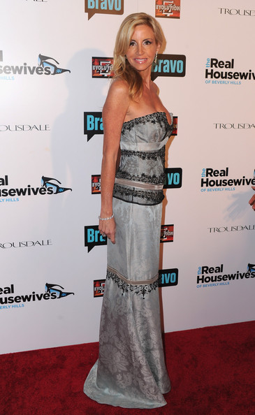 "Camille Grammer Actress Camille Grammer arrives at Bravo's ""The Real Housewives of Beverly Hills"" series party on October 11, 2010 in West Hollywood, California."