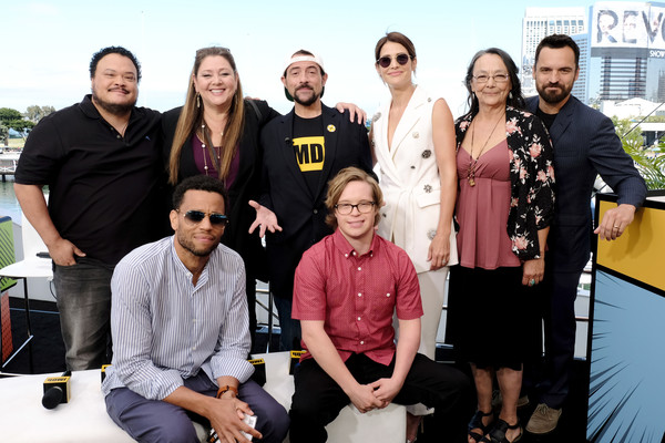 #IMDboat At San Diego Comic-Con 2019: Day Two [social group,team,event,community,eyewear,tourism,imdboat,san diego comic-con,michael ealy,adrian martinez,tantoo cardinal,cole sibus,cobie smulders,camryn manheim,kevin smith,jake johnson]