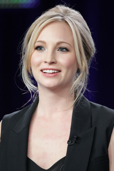 Candice Accola Actress Candice Accola speaks during the 'Kick-Ass Women Of The CW' panel during the CW portion of the 2011 Winter TCA press tour held at The Langham Huntington Hotel on January 14, 2011 in Pasadena, California.
