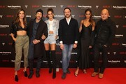 Alessandra Ambrosio, Adrien Brody, Izabel Goulart, Managing Director Peek & Cloppenburg KG, Düsseldorf John Cloppenburg, Joan Smalls and CEO of Replay Matteo Sinigaglia attend the launch event for the new Capsule Collection Neymar Jr. x Replay at Weltstadthaus on February 13, 2020 in Duesseldorf, Germany.