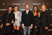Adrien Brody, Izabel Goulart, Managing Director Peek & Cloppenburg KG, Düsseldorf John Cloppenburg, Joan Smalls and CEO of Replay Matteo Sinigaglia attend the launch event for the new Capsule Collection Neymar Jr. x Replay at Weltstadthaus on February 13, 2020 in Duesseldorf, Germany.