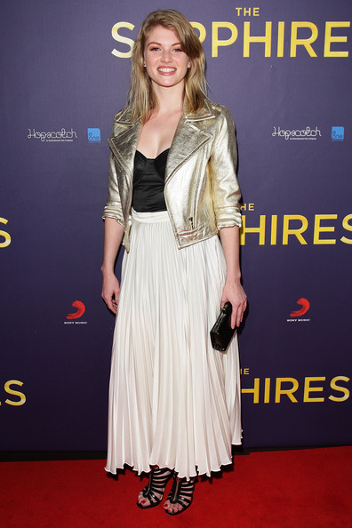 Cariba Heine Cariba Heine poses on the red carpet at the Sydney Premiere of The Sapphires at State Theatre on August 8, 2012 in Sydney, Australia.