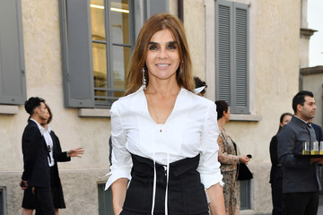 Carine Roitfeld Miuccia Prada and Patrizio Bertelli Host a Private Dinner at Fondazione Prada