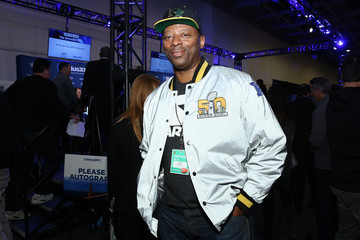 Carl Banks SiriusXM at Super Bowl 50 Radio Row - Day 2