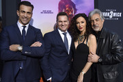 "(L-R)  Daniel Bernhardt, CEO of Carl F. Bucherer Sascha Moeri, Sofia Milos, and Joe Mantegna celebrate the premiere of ""John Wick: Chapter 3 - Parabellum"" on May 15, 2019 in Los Angeles, California."