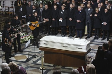 Carla Bruni-Sarkozy France National Tribute to Johnny Hallyday at La Madeleine Church in Paris