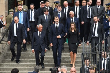 Carles Puigdemont Spanish Royals Attend Mass for Victims Terror Attacks