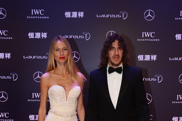 Carles Puyol Vanessa Lorenzo Red Carpet Arrivals - 2015 Laureus World Sports Awards - Shanghai