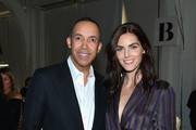 CEO, CARLISLE Terrence Morehead (L) and model Hilary Rhoda attend the Carlisle Fall/Winter 2018 Runway Show during New York Fashion Week at Pier 59 Studios on February 13, 2018 in New York City.