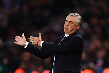 Carlo Ancelotti Paris Saint-Germain vs. SSC Napoli - UEFA Champions League Group C