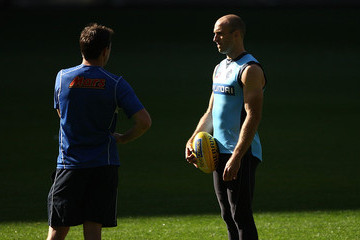 Chris Judd Brett Ratten Carlton Blues Training Session