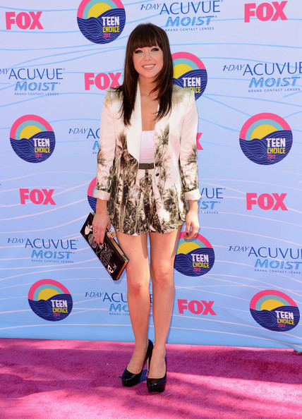 Carly Rae Jepsen Singer Carly Rae Jepsen arrives at the 2012 Teen Choice Awards at Gibson Amphitheatre on July 22, 2012 in Universal City, California.