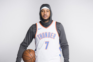 Carmelo Anthony Oklahoma City Thunder Media Day