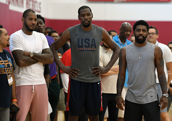 0aae1fe3f668 Carmelo Anthony and Kyrie Irving Photos Photos - 2018 USA Basketball ...