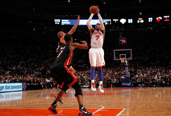 carmelo anthony pictures miami heat v new york knicks