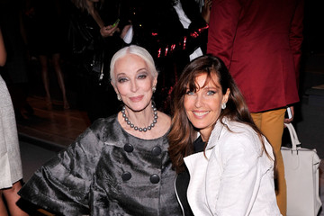 Carmen Dell'Orefice MBFW: Front Row at Dennis Basso