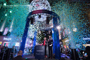 Ronnie Wood (L) and Alex Zane during the Carnaby Christmas installation switch-on at Carnaby Street on November 07, 2019 in London, England.