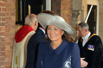 Carole Middleton Prince George of Cambridge Christened in London — Part 2