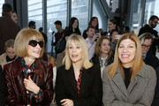 Anna Wintour (L) and Virginia Smith (R) attend the front row for Carolina Herrera during New York Fashion Week on February 10, 2020 in New York City.