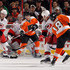 Cam Ward Joni Pitkanen Photos - Claude Giroux #28 of the Philadelphia Flyers tries to tip a shot from teammate Mike Richards #18 as Cam Ward #30 and Joni Pitkanen #25 of the Carolina Hurricanes defend on January 23, 2010 at Wachovia Center in Philadelphia, Pennsylvania. The Flyers defeated the Hurricanes 4-2. - Carolina Hurricanes v Philadelphia Flyers