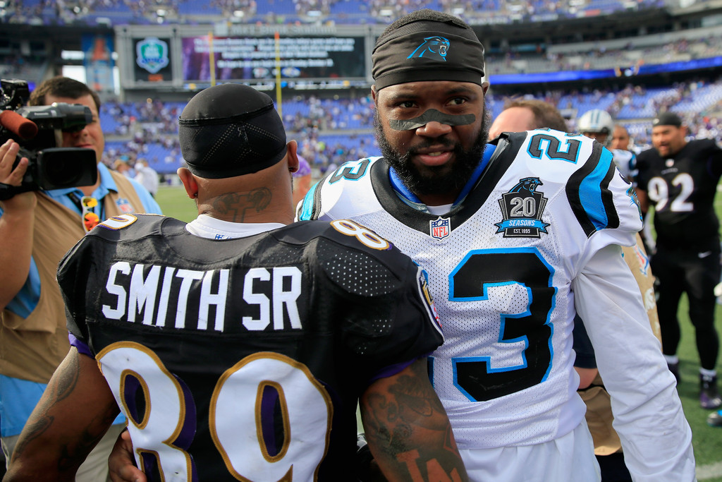039016e051dd Steve Smith and Melvin White Photos»Photostream · Pictures. Carolina Panthers  v Baltimore Ravens
