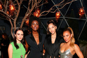 Olivia Perez, Amilna Estevao, Yasmin Wijnaldum and Jennifer Yepez attend Caroline Rush, Julia Restoin Roitfeld and Bloomingdales Celebrate David Koma's 10th Anniversary at The Peninsula Hotel on October 30, 2019 in New York City.