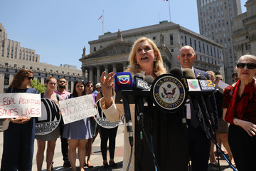 Carolyn Maloney Activists And Politicians Rally In NYC Against New Supreme Court Justice Nominee