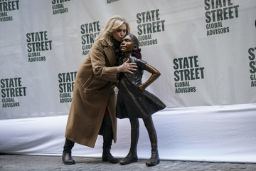 Carolyn Maloney 'Fearless Girl' Statue Moves To Her New Home Across From NY Stock Exchange